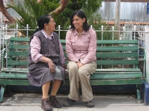 "Patricia and ""mama Vicky"" in Accha, Peru"