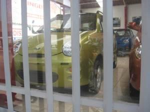 New Chery cars at a Peruvian dealership