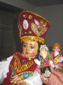 Typical Peruvian baby Jesus figures, Niños