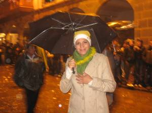 New Years Eve at the Plaza de Armas in Cusco, Peru