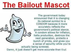 bailout mascot