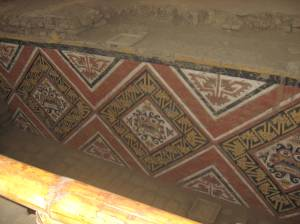 Moche paintings inside the Huaca de la Luna