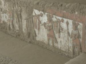 Paintings of Moche warriors