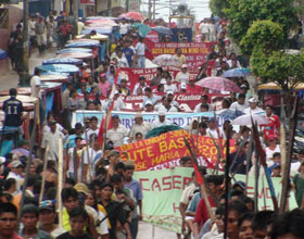 Protest in Bagua, Peruvian Amazon