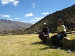 Relaxing in the Andean sun