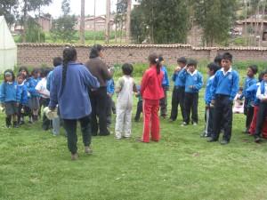 Schoolkids in rural Peru