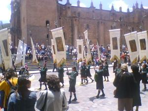 Parade at the Plaza de Armas