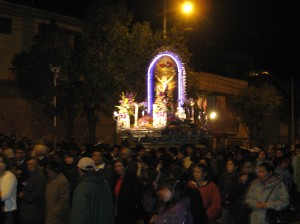 Procession of Señor de los Milagros in Cusco