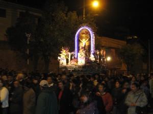 Procession of Señor de los Milagros in Cusco