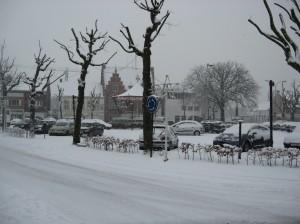 Main square in Oostakker, Belgium