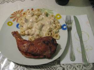 chicken with tortellini