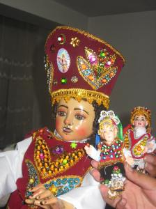 Typical Andean baby Jesus figure