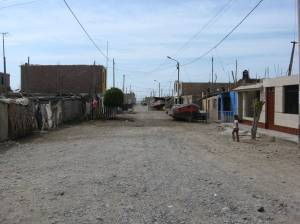 The seaside village of San Andres, near Pisco, Peru