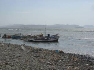 Small fishing boats in San Andres