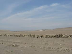 Desert scenery along the Panamericana Sur