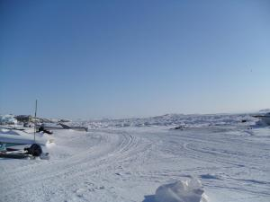 Frozen Frobisher Bay