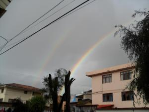 Beautiful Cuzco rainbow