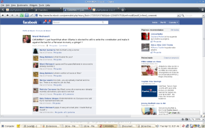 Facebook screenshot Ollanta Humala