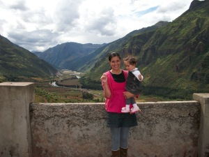 Overlooking the Sacred Valley of the Inca from the shrine of Señor de Huanca