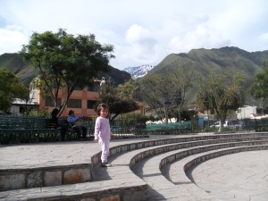 Brianna in Urubamba, Sacred Valley of the Incas
