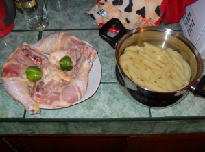 peruvian style chicken and fries