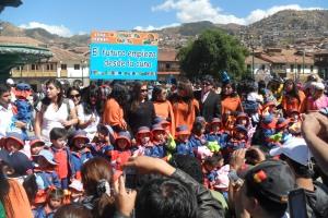 kindergarden parade plaza de armas Cuzco
