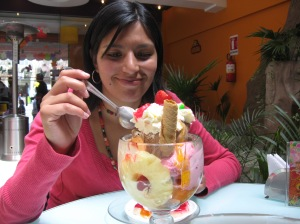 ice cream in La Paz Bolivia