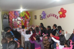 birthday party Cuzco Peru