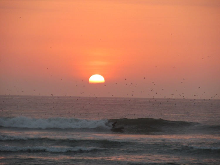 sunset in Huanchaco Peru