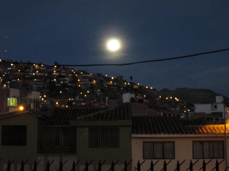 Moon over Cusco