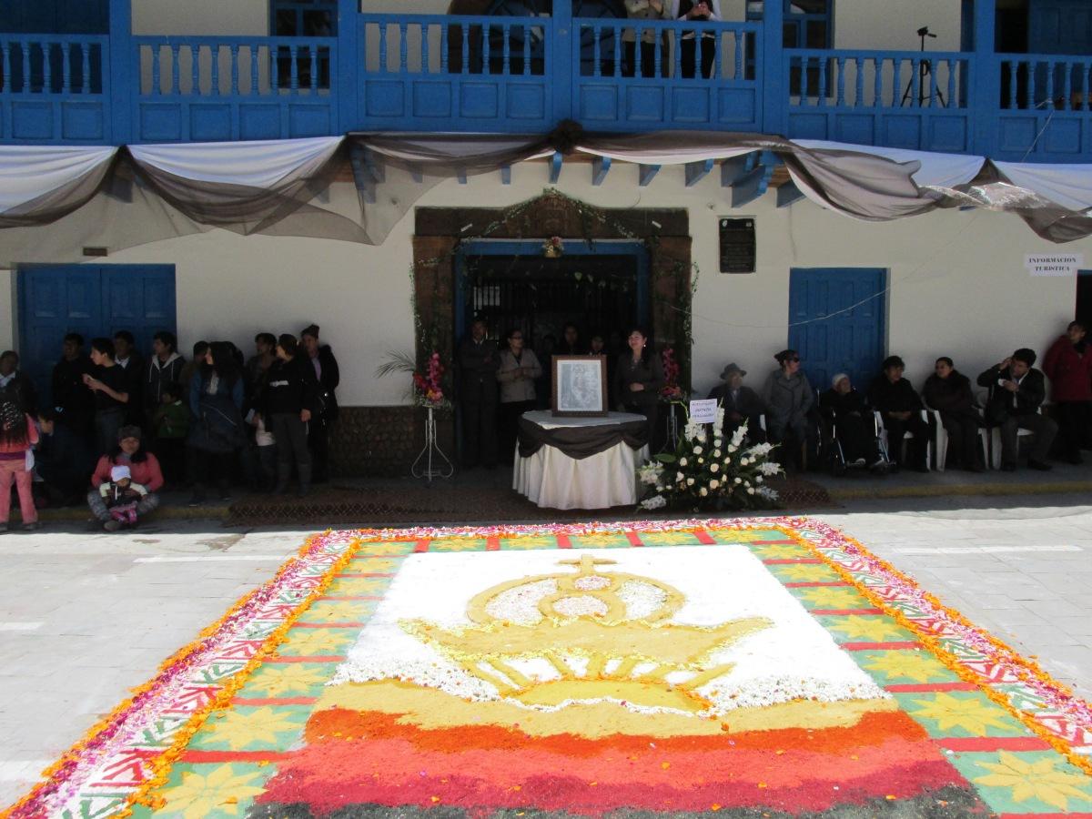 Preparing for the procession of the Virgen del Carmen