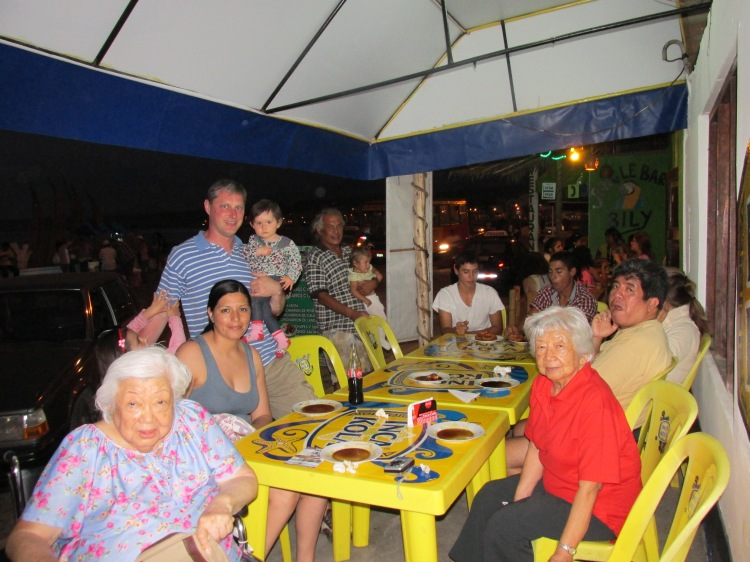 With Doña Laeti and family in Huanchaco