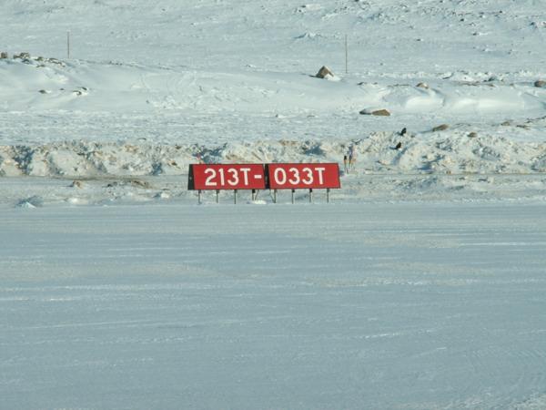 Runway at Qikiqtarjuaq CYVM
