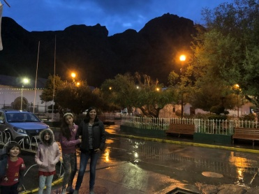 The main square of Accha, early evening in rainseason.