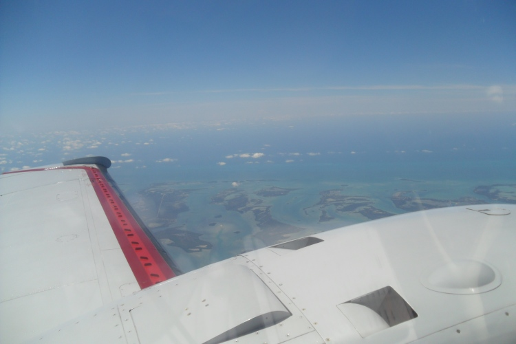 Flying over Florida Keys